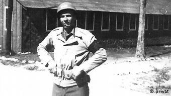 1st Lieutenant Weber prior to his wounding at Wonju, Korea