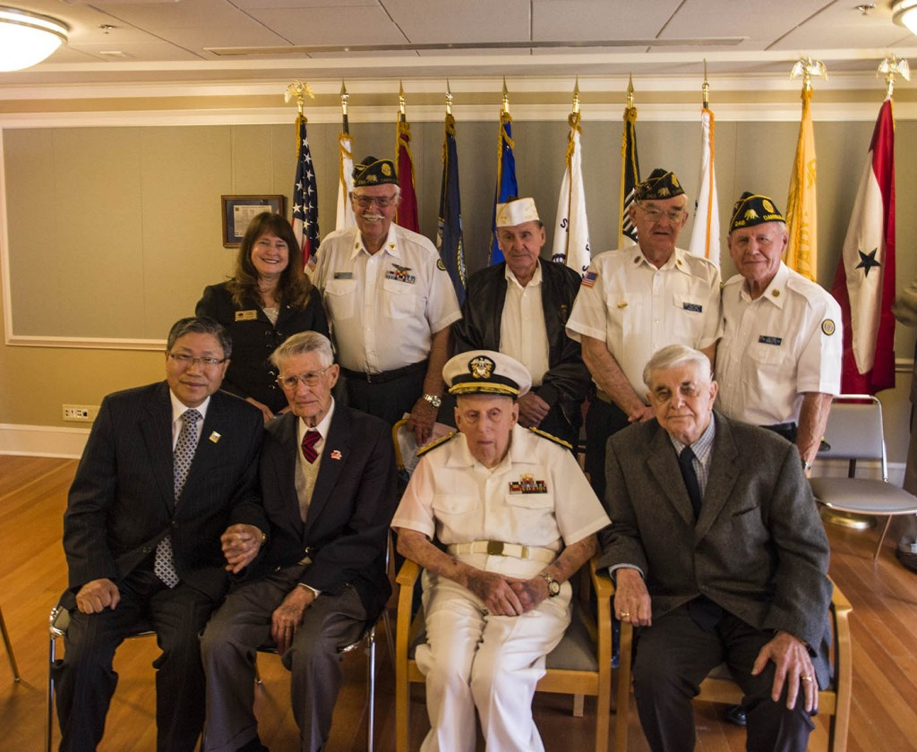 Rear Admiral Gorman with some of his guests
